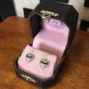 Juicy Couture. Crystal heart earrings